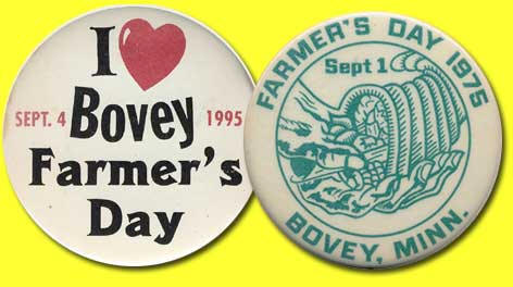 1975 & 1995 Bovey Farmers Day Buttons